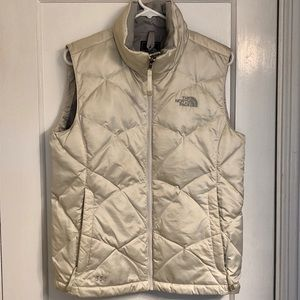 The North Face Women's White Puffer Vest